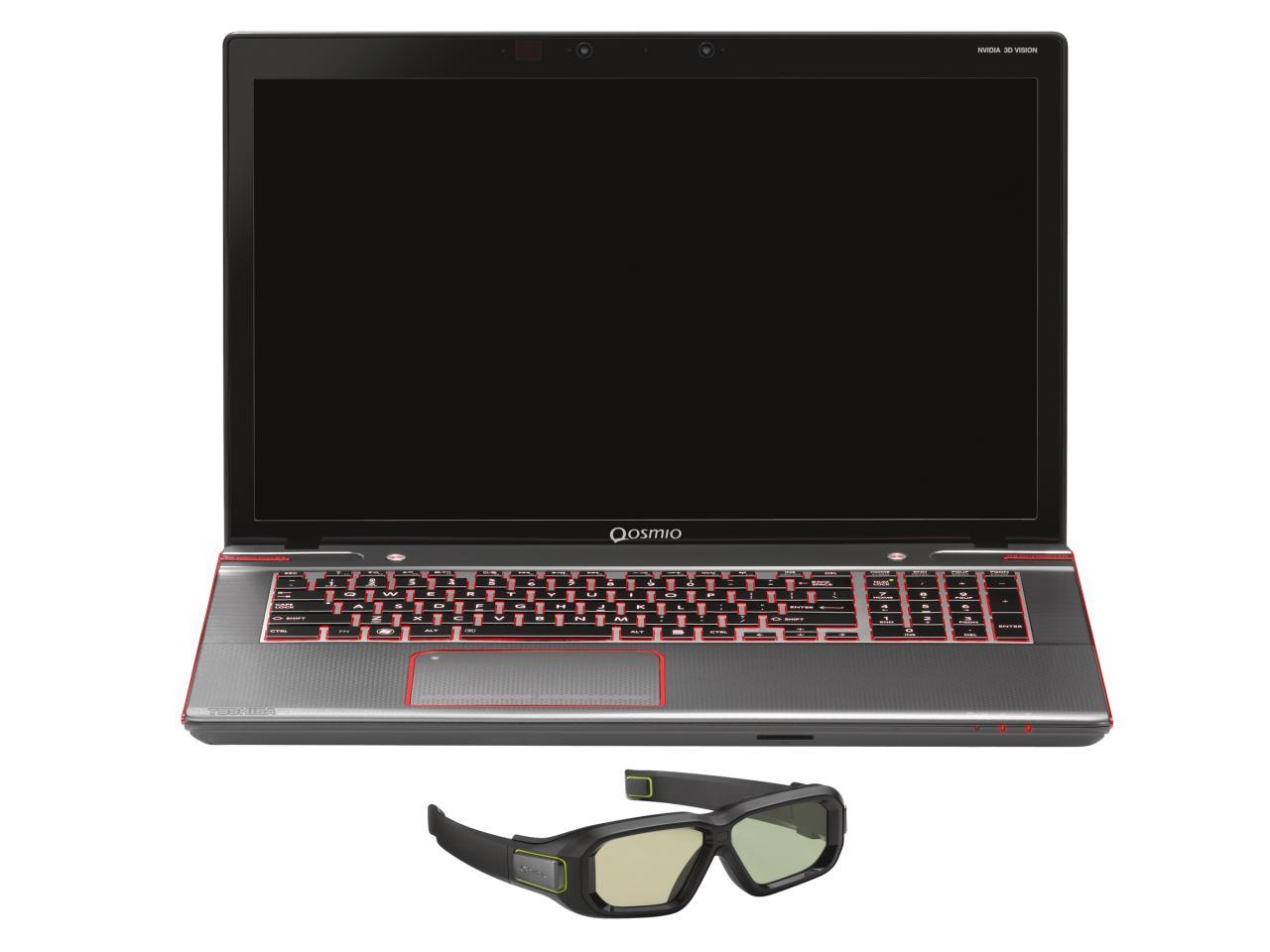 Toshiba Qosmio X870 3D mit 3D-Brille (Foto: Toshiba)