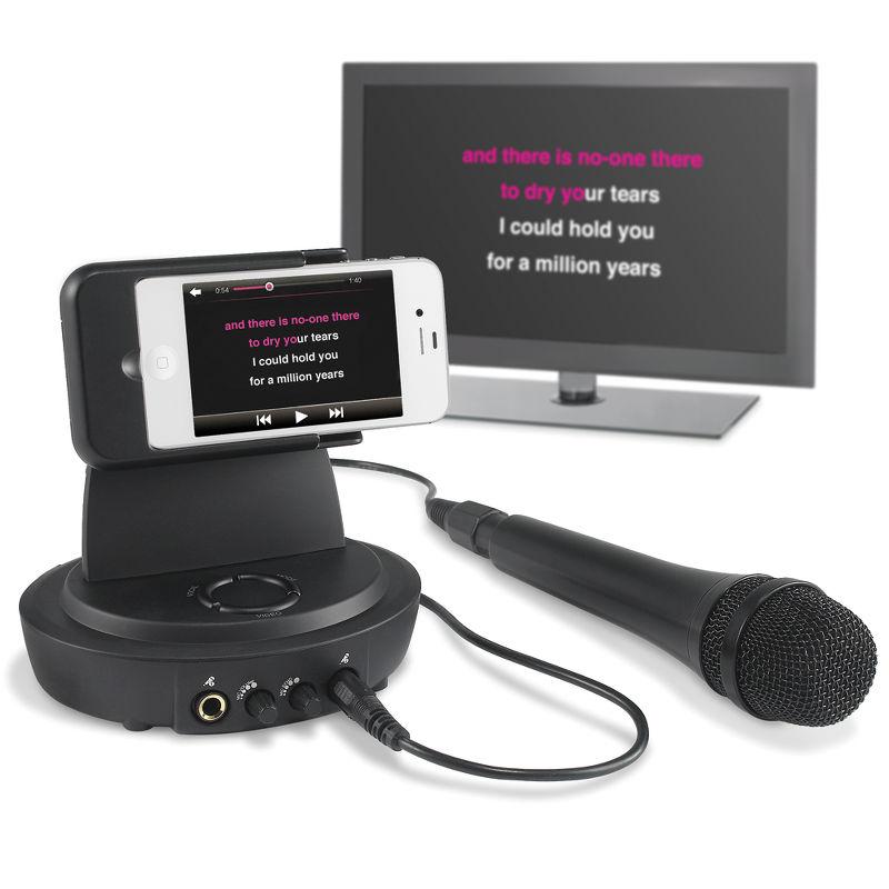 Karaoke mit dem iPhone. (Foto: Hammacher Schlemmer)