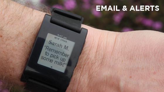 So sieht die Pebble-Uhr aus, wenn sie eine Nachricht darstellt. (Foto: Kickstarter.com)