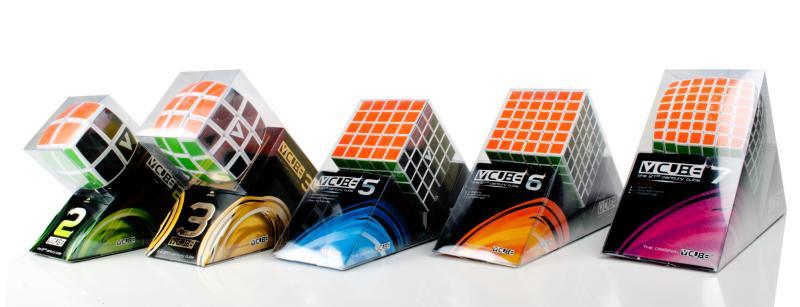 Der V-Cube in 5 Varianten. (Foto: Megagadgets.de)