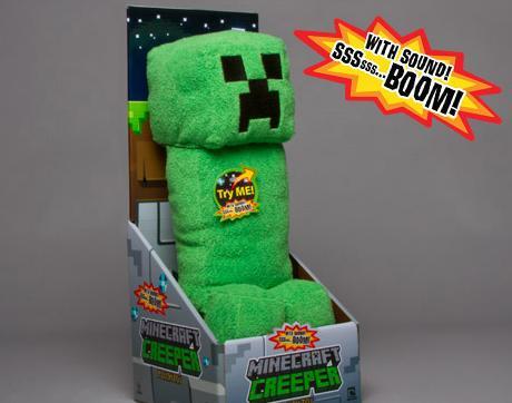 Der Minecraft Creeper als Kuscheltier. (Foto: Jinx)