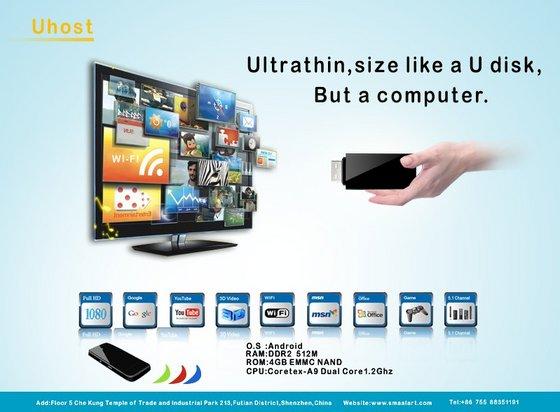 UHost bringt einen kompletten Computer auf den HDTV. (Foto: ec21.com)