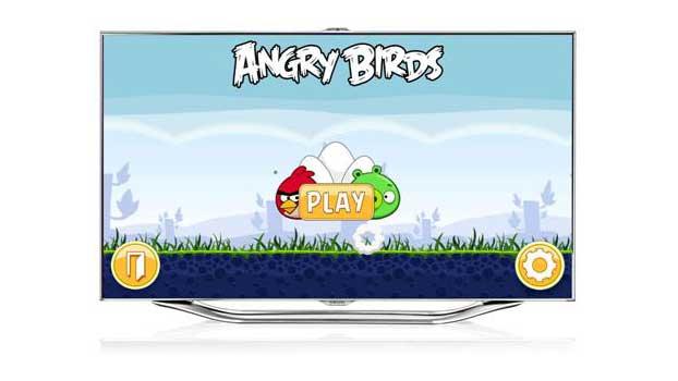 Angry Birds - in diesem Monat auf Samsungs Smart TVs. (Foto: Samsung)