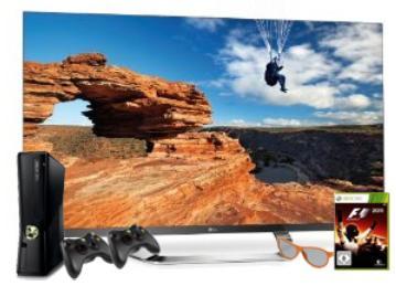 Fernseher kaufen, Xbox 360 mit Zubehör gibt's gratis. (Foto: Amazon)