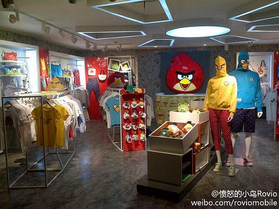 Einladend. Der erste offizielle Angry Birds-Shop. Leider in Shanghai. (Foto: micgadgets)
