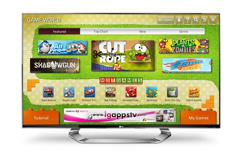 Eine Spielewelt für LG-TV-Geräte. (Foto: LG)