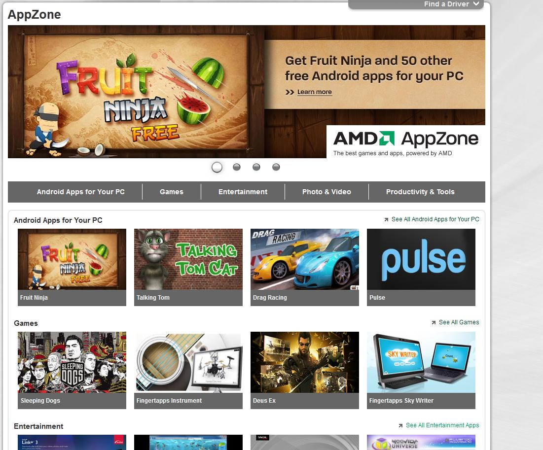Android-Apps auf dem Windows-Computer. (Foto: amd.com)