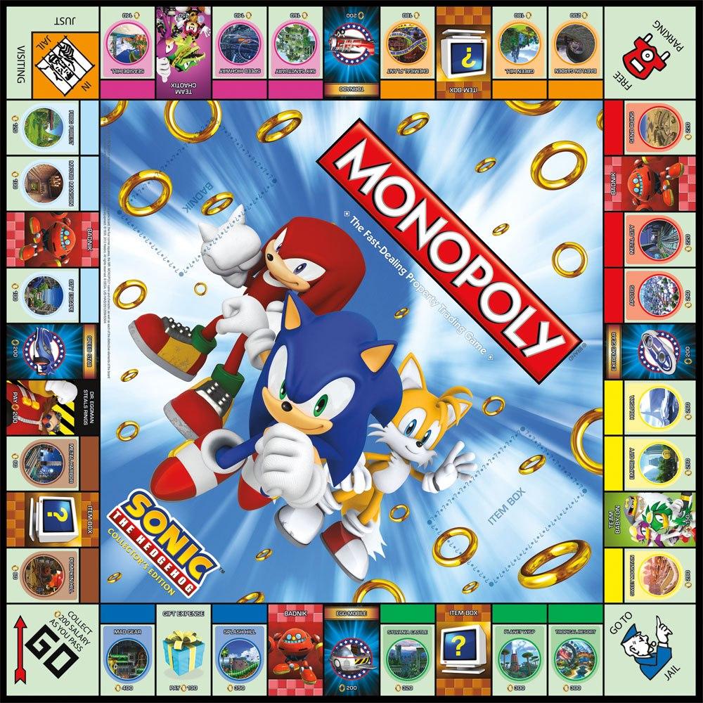 Das Spielfeld vom Sonic-Monopoly. (Foto: USAOpoly)