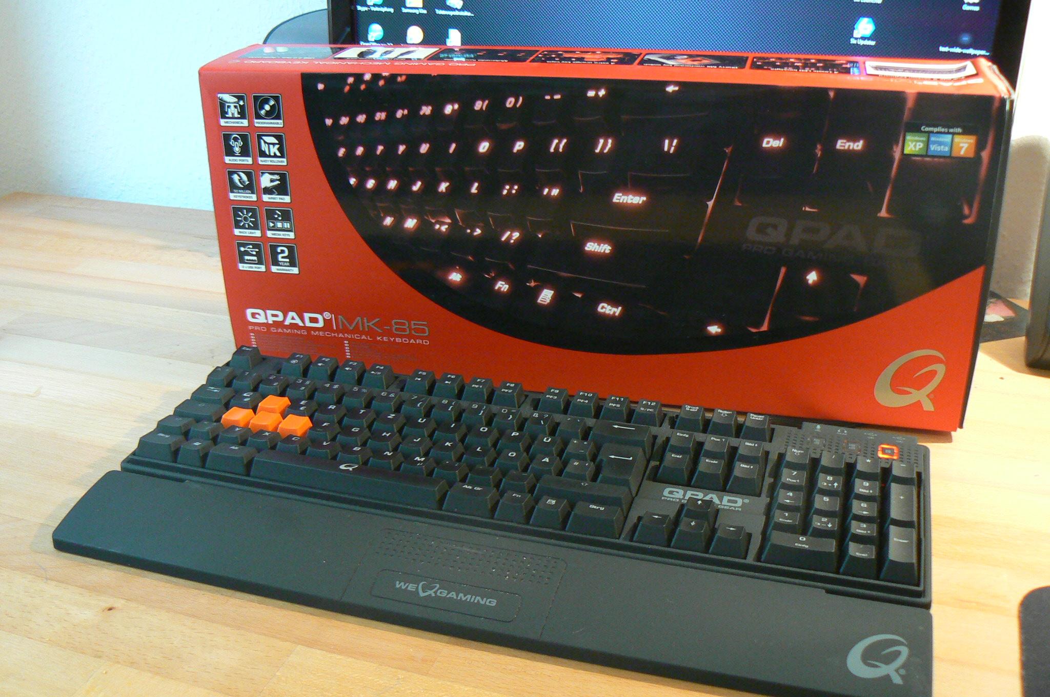 Da ist sie - die MK-85 von Q-PAD. (Foto: GamingGadgets.de)