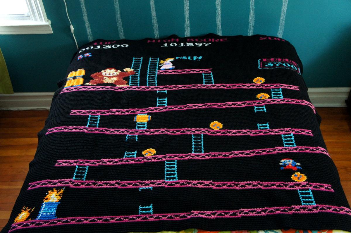 Die Donkey-Kong-Decke. (Foto: Etsy)