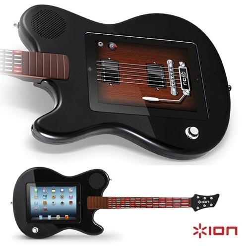 Das iPad in der Gitarre. (Foto: ION)