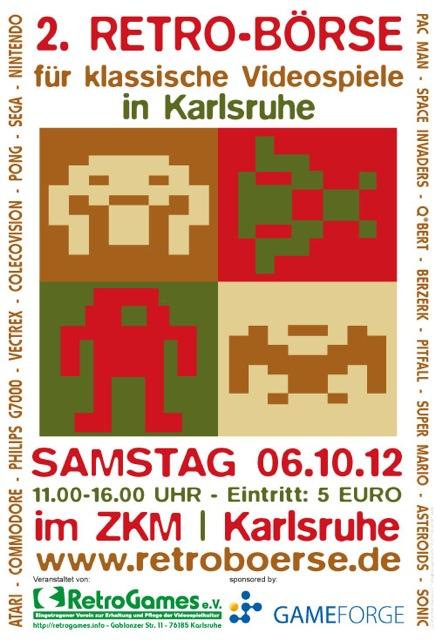 Flyer von der 2. Retrobörse in Karlsruhe. (Foto: Retroboerse.de)