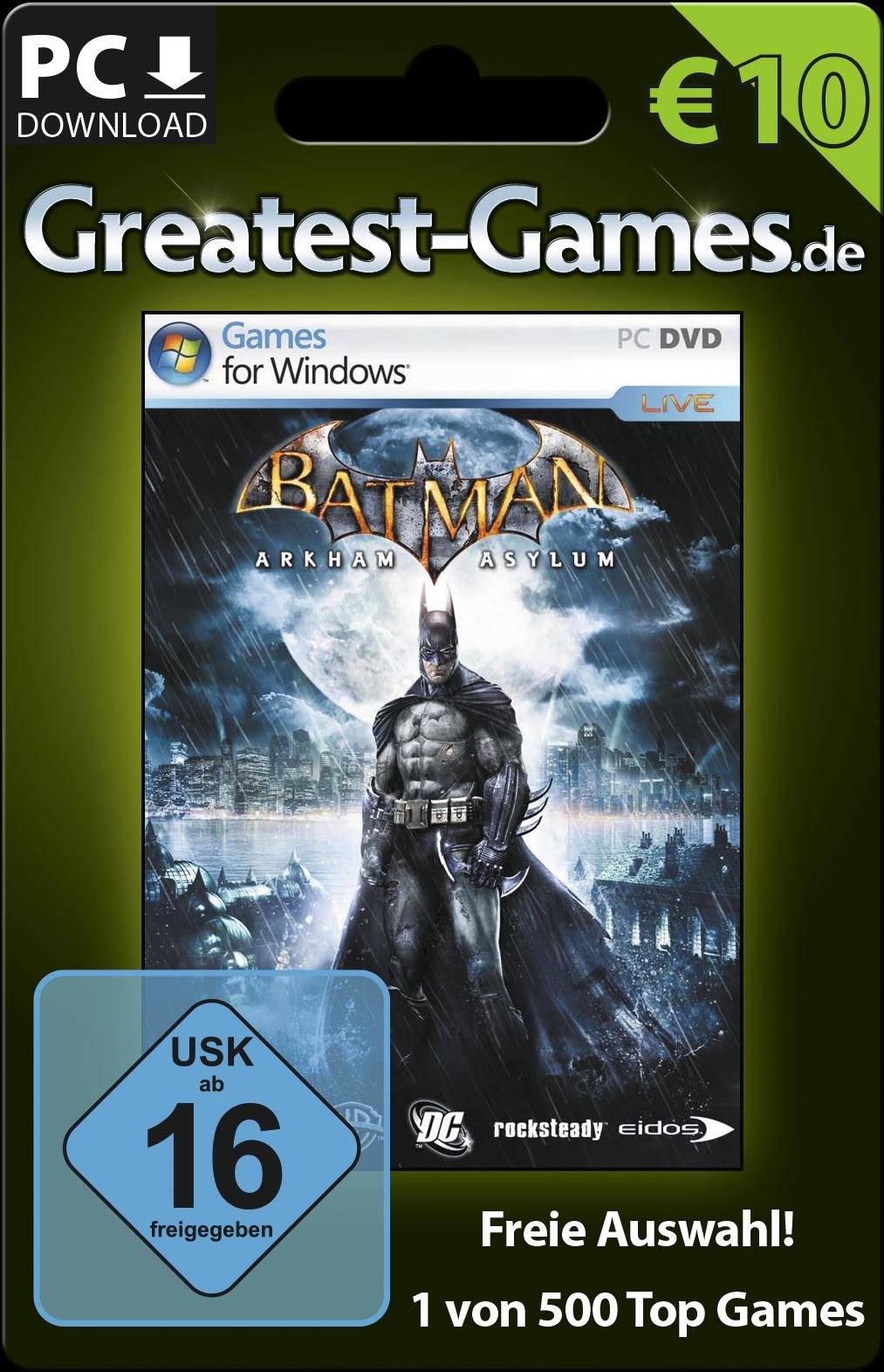 Game-Card für Batman bzw. 10 Euro. (Foto: Softdistribution GmbH)