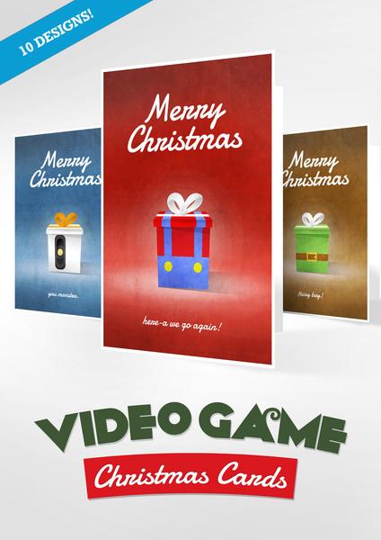 Videospiel-bezogene Weihnachtskarten. Wieso nicht? (Foto: gamerprint.co.uk)