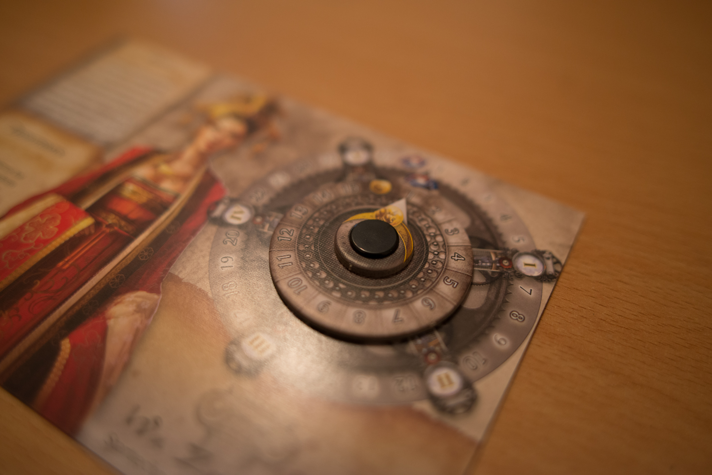 Der Punkteanzeiger, der wohl nicht ohne Grund wie ein Kompass aussehen soll...