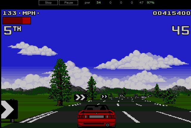 Lotus Turbo Challenge 2 direkt im Browser spielen.