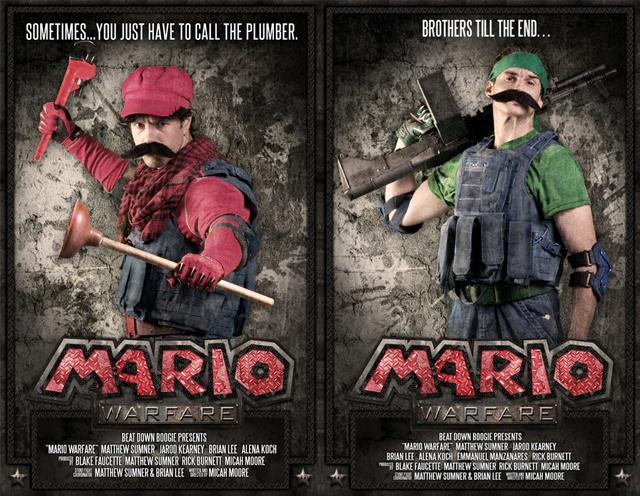 Mario und Luigi als Soldaten. Wie das wohl Nintendo gefällt? (Foto: Kickstarter.com)