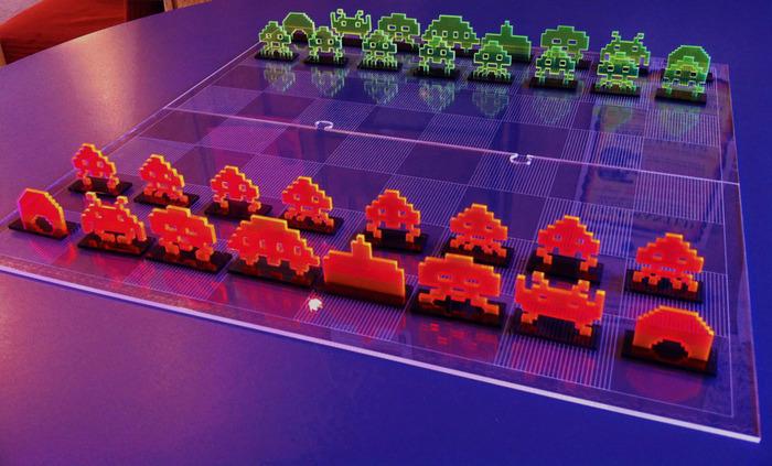 Space Invaders als Schachspiel. (Foto: Kickstarter)