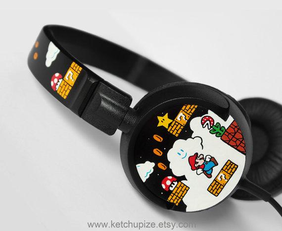 Mario-Kopfhörer. Coole Idee, oder? (Foto: Etsy)