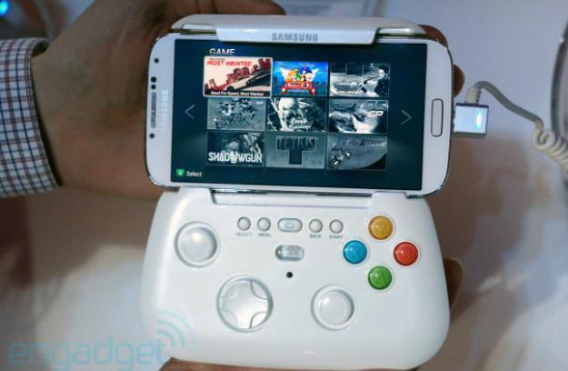 So sieht der Controller für das Samsung Galaxy S4 aus. (Foto: The Verge)