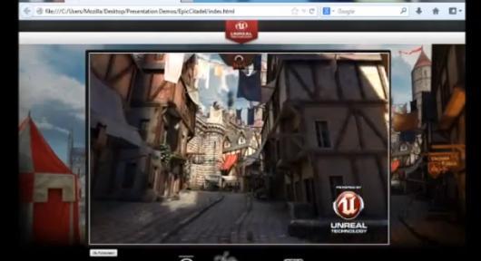 Die Unreal Engine 3 im Browser. Erstaunlich. (Foto: Mozilla)