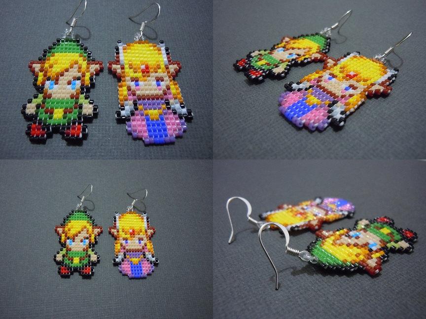 Link und Zelda als niedliche Ohrringe. (Foto: Etsy)