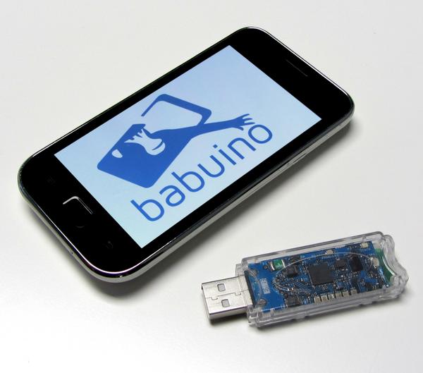 Babuino verwandelt das smartphone in eine maus oder ein for Wohnzimmertisch usb