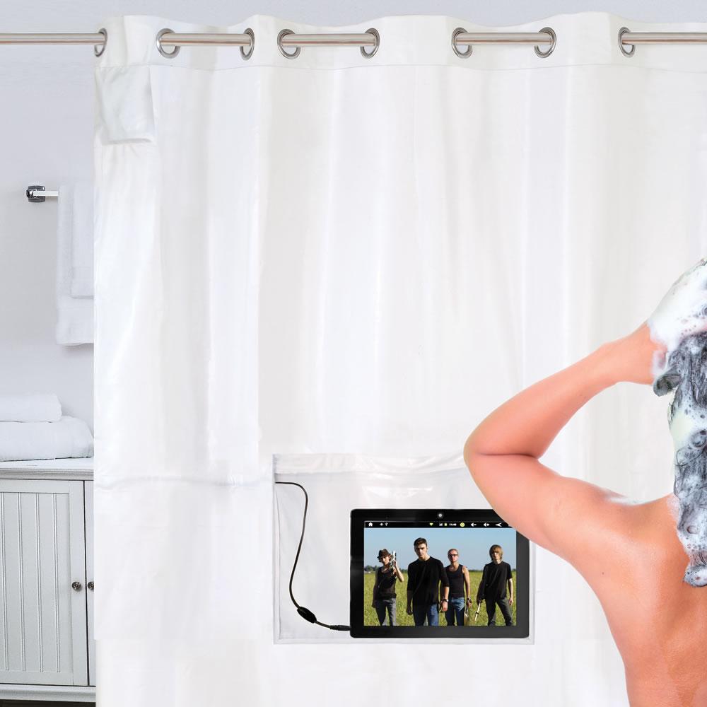 Praktisch, beim Duschen die Händ frei zu haben (Foto: hammacher.com)