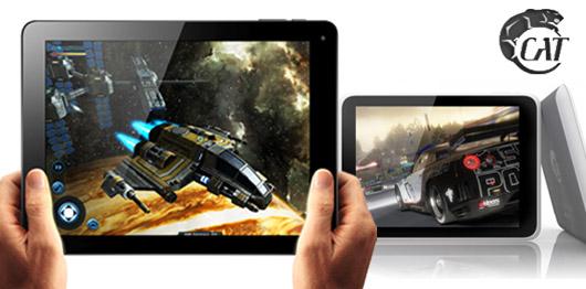 Gewinnt zwei hochwertig verarbeitete Tablets mit Android 4 vom Berliner Unternehmen Cat Sound.