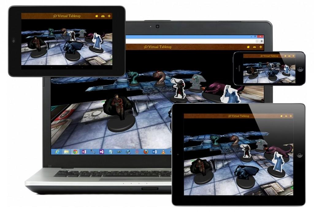 Ein Szenario auf unterschiedlichen Geräten (Foto: 3dvirtualtabletop.com)