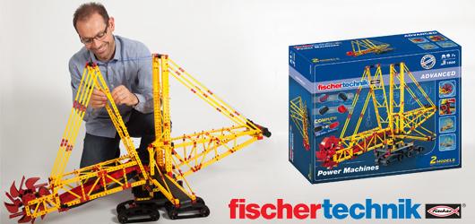 Gewinnt den Power Machines-Baukasten von fischertechnik!