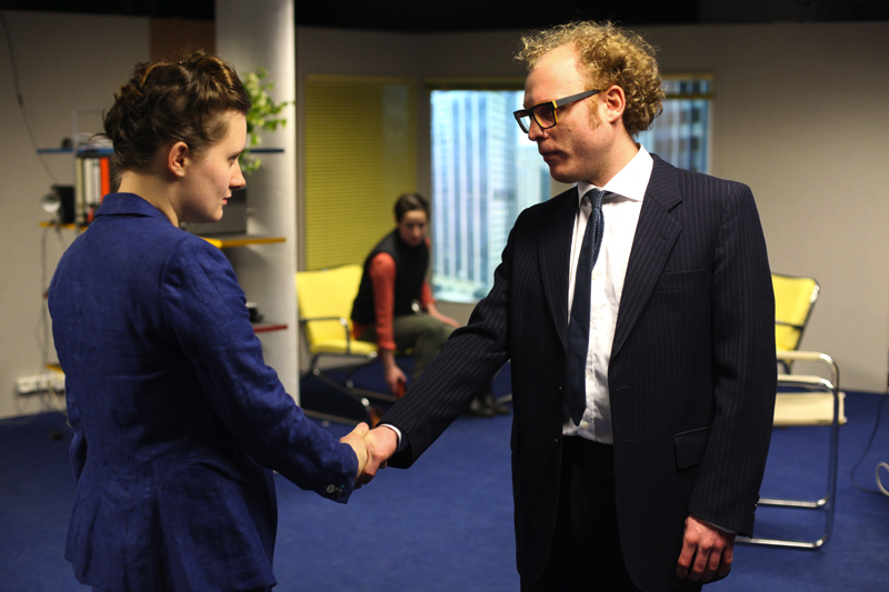 Szene aus dem Theaterstück. (Foto: machina eX / Paula Reissig)