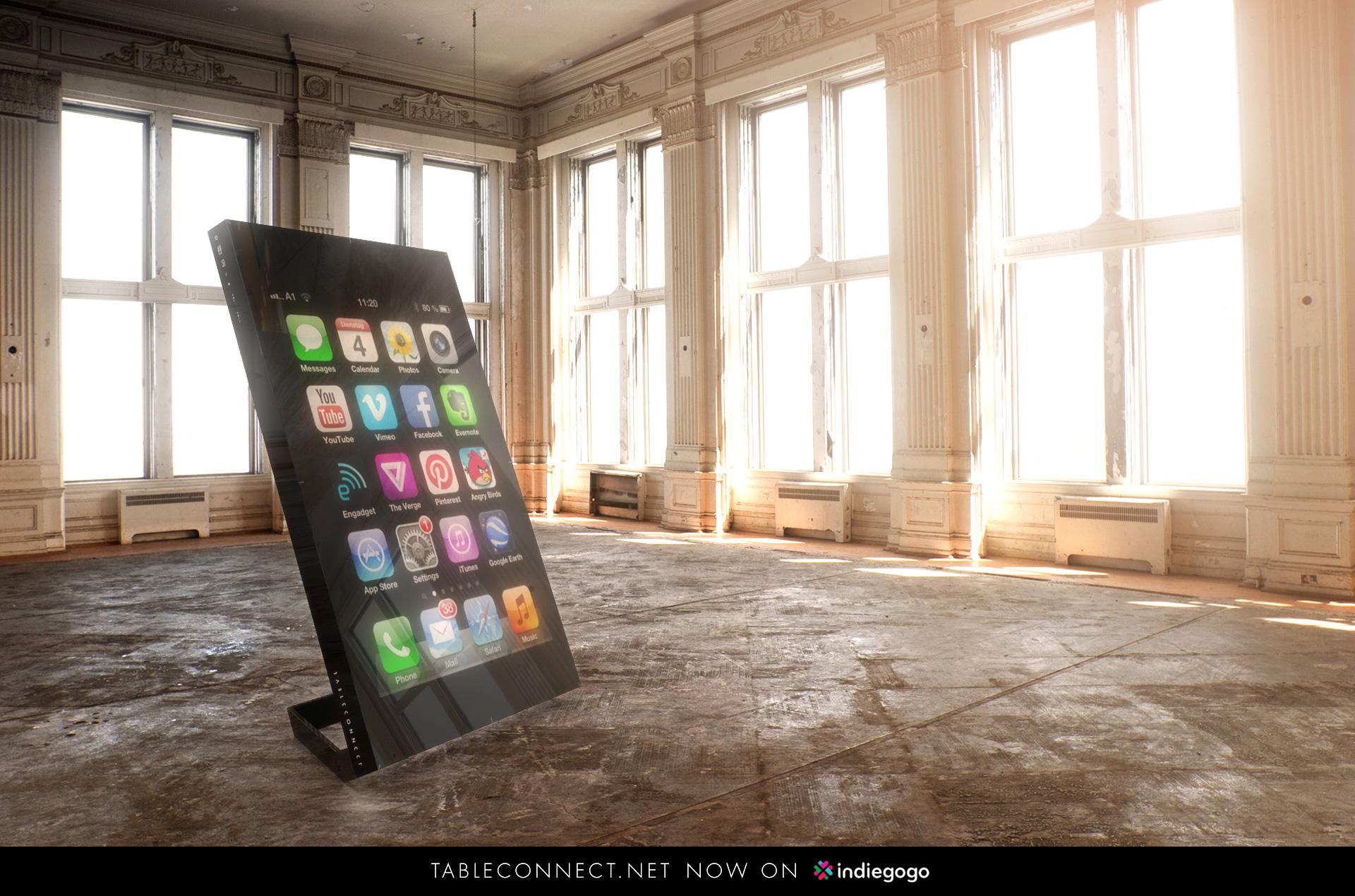TableConnect bringt das Smartphone auf einen riesigen Tisch. (Foto: TableConnect GmbH)