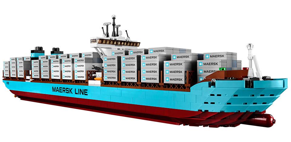 Das weltgrößte Containerschiff als Lego-Modell (Foto: Lego)