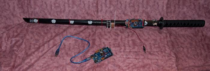 Die Katana mit Elektronik. (Foto: Kickstarter)