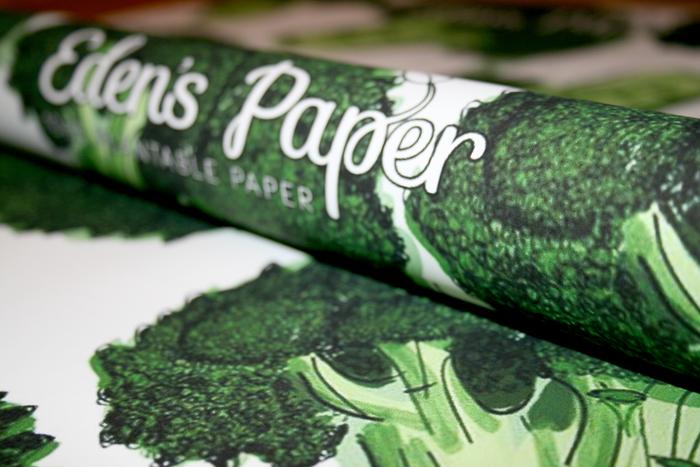 Eden Paper: Aus Papier wird Brokkoli! (Foto: Kickstarter)