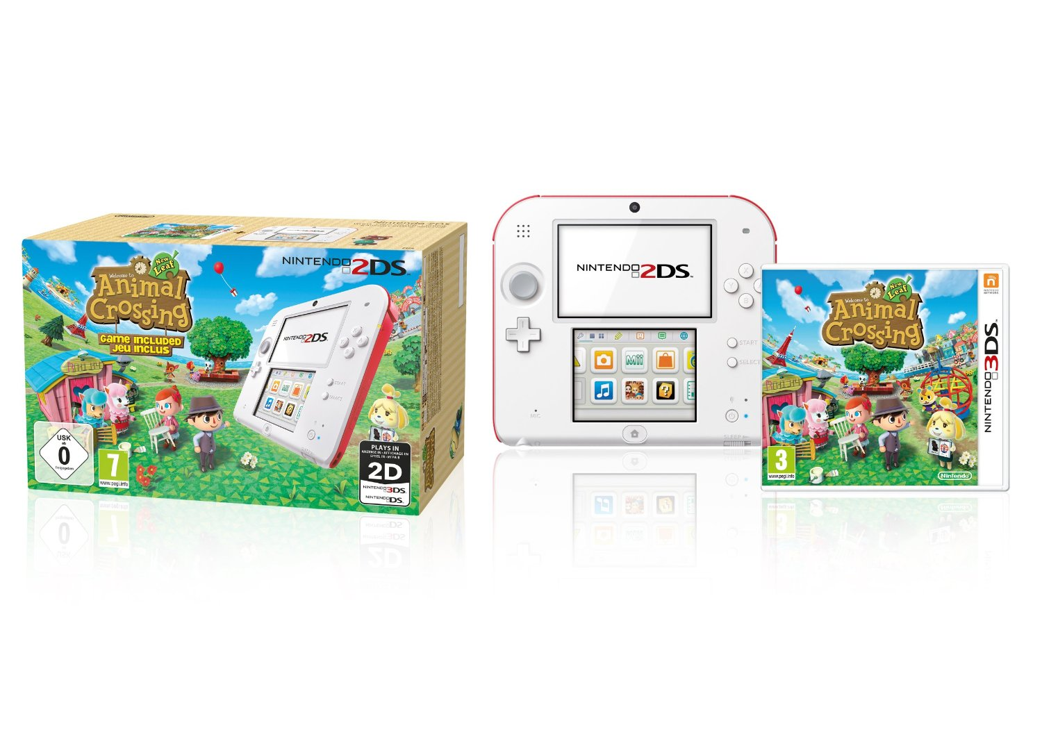 Animal Crossing: New Leaf samt 2DS. (Foto: Nintendo)