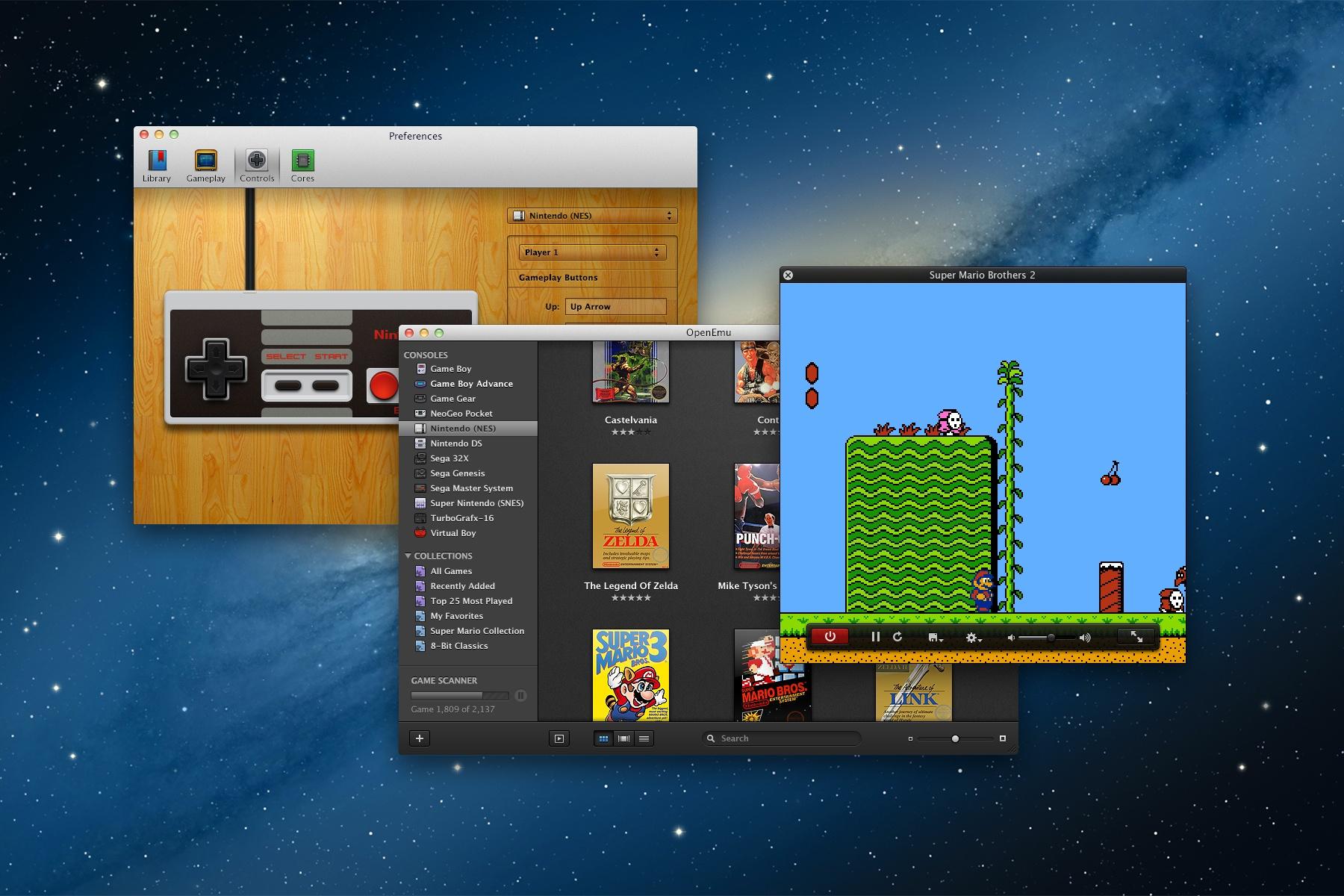 Einfach und schnell - das Emulatoren-Komplettpaket. (Foto: OpenEmu)