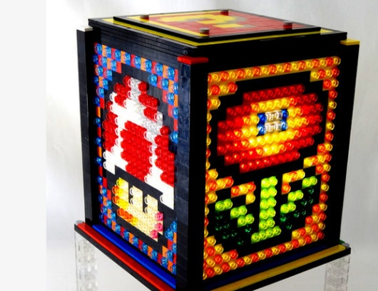 mosaic lego lamp last minute geschenkidee und tolle super mario leuchte. Black Bedroom Furniture Sets. Home Design Ideas