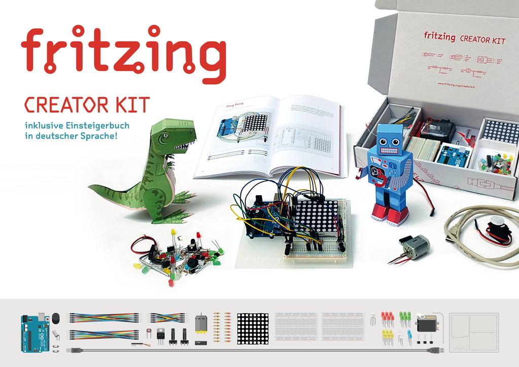 Das Fritzing Creator Kit will jung und alt den kreativen Umgang mit Technik näherbringen (Foto: fritzing.org)