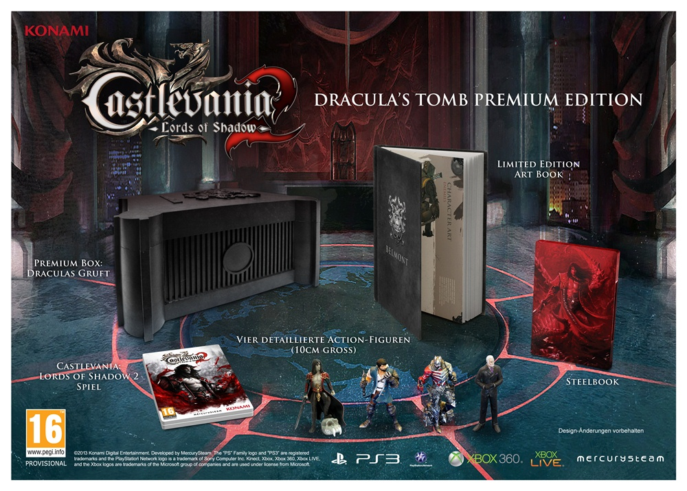 Das bietet die Sammler-Edition von Castlevania: Lords of Shadow 2. (Foto: Konami)