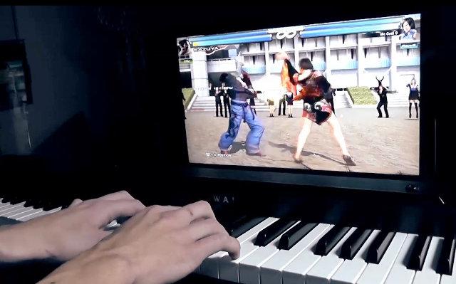 Piano und Tekken gleichzeitig spielen. (Foto: Vimeo)