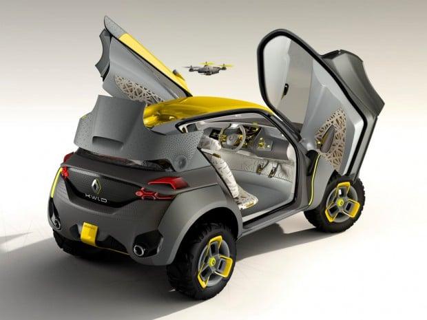 Der Renault Kwid mit eigener Drohne (Foto: trendsderzukunft.de)
