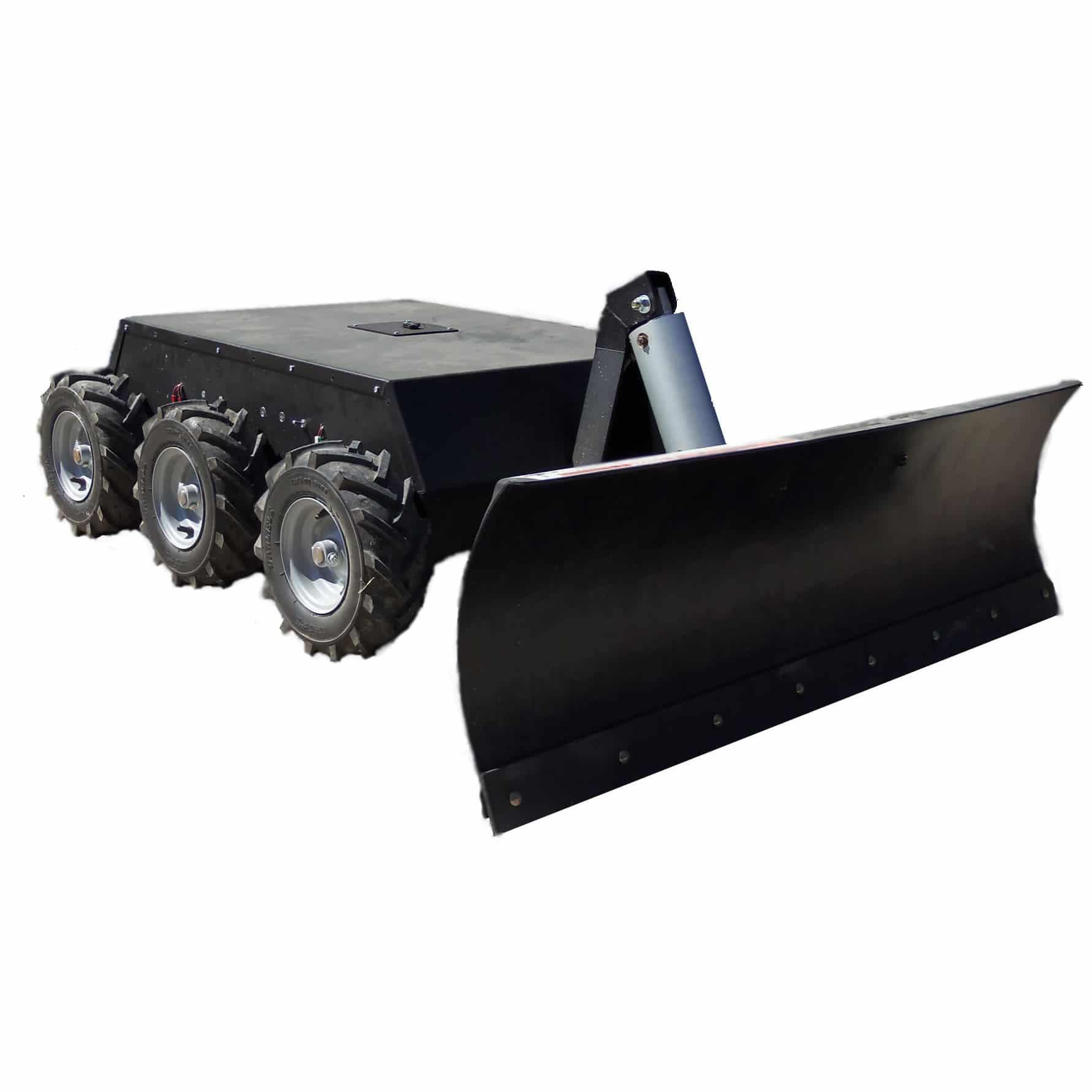 rc 6wd robot with snow plow erfrierungsfreies schippen mit dem schneepflug roboter. Black Bedroom Furniture Sets. Home Design Ideas