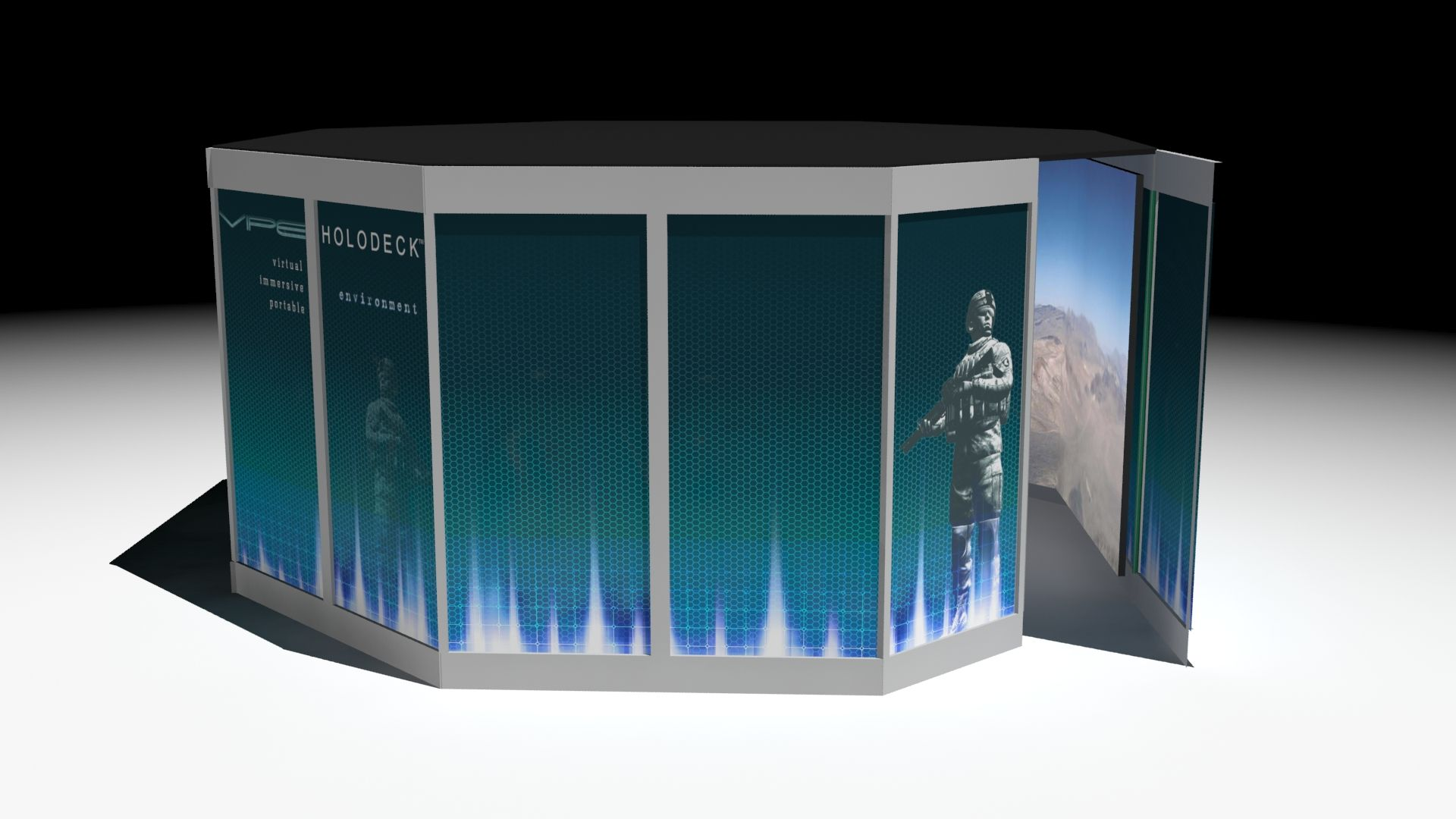 VIPE Holodeck: Virtueller Trainingsraum für Soldaten & Polizisten (Foto: Northrop Grumman)