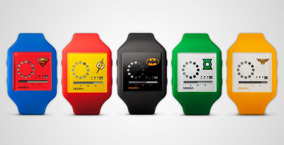 Die Armbanduhren im DC-Stil (Foto: Nooka)