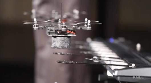 Roboter spielen Musik. (Foto: Youtube)