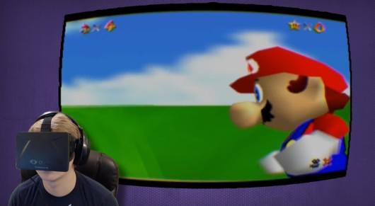 Mario 64 mit Oculus Rift? Aber es gibt noch weitere verrückte Ideen... (Foto: Youtube)