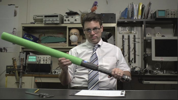 Sieht doch ganz harmlos aus. Also das Schwert.. (Foto: Kickstarter)