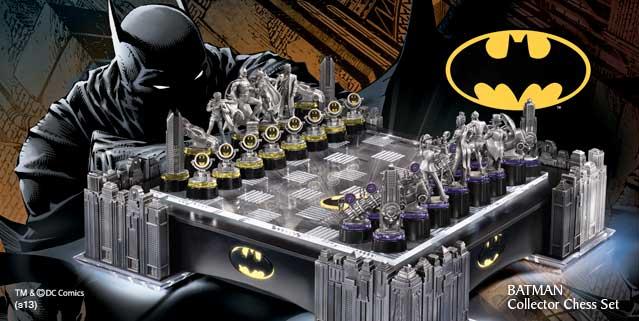 Batman entspannt gerne bei einer Partie Schach!? (Foto: The Noble Collection)